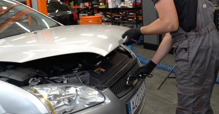 Jak vyměnit Klinovy zebrovany remen na Ford Focus mk2 Sedan 2005 - bezplatné PDF a video návody