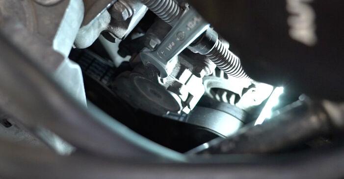 Ford Focus mk2 Sedan 1.8 TDCi 2007 Klinovy zebrovany remen výměna: bezplatné návody z naší dílny