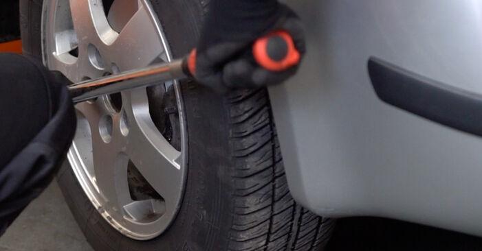 Fabia I Combi (6Y5) 1.4 TDI 2000 Brake Discs DIY replacement workshop manual