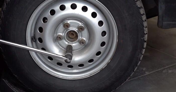 Bremsbeläge VW T4 Transporter 1.9 TD 1992 wechseln: Kostenlose Reparaturhandbücher