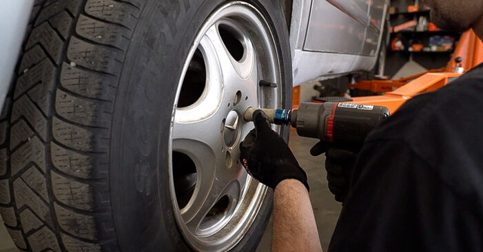 How to remove MERCEDES-BENZ VITO 108 D 2.3 (638.164) 2000 Brake Pads - online easy-to-follow instructions
