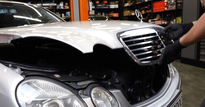 How to change Brake Pad Wear Sensor on Mercedes W211 2002 - free PDF and video manuals