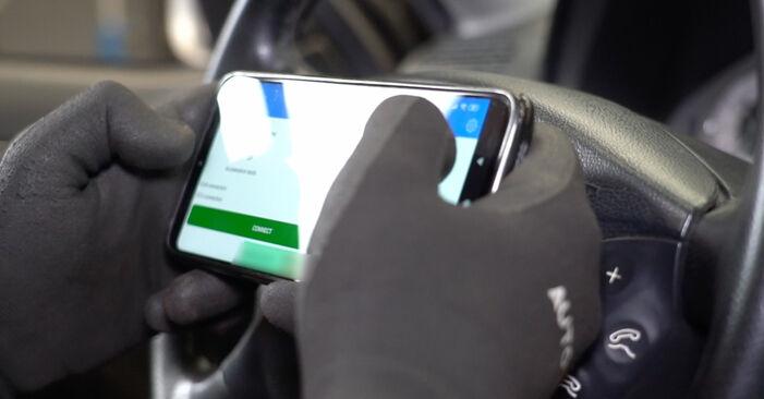 Replacing Brake Pad Wear Sensor on Mercedes W211 2004 E 220 CDI 2.2 (211.006) by yourself