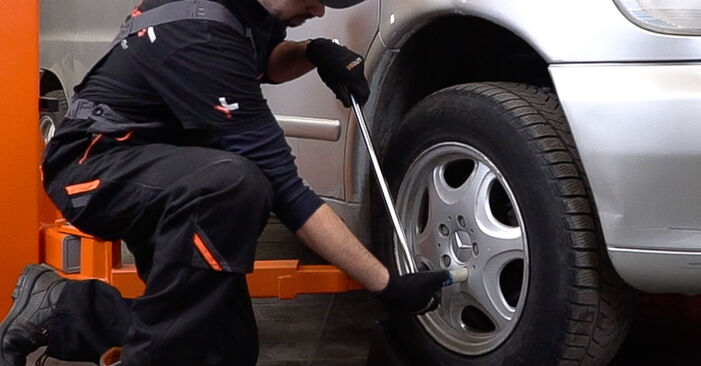 How to replace MERCEDES-BENZ VITO Bus (638) 112 CDI 2.2 (638.194) 1997 Control Arm - step-by-step manuals and video guides