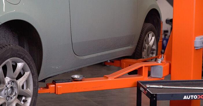 Byt Bromsbelägg på FIAT 500 (312) 0.9 2010 själv