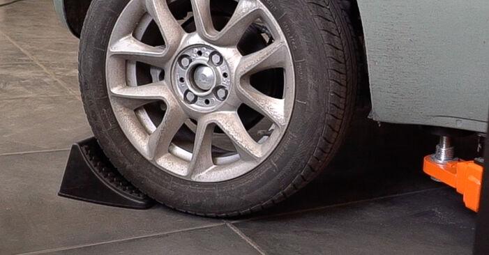 Hoe FIAT 500 (312) 1.2 2008 Remschijven vervangen – stapsgewijze handleidingen en videogidsen