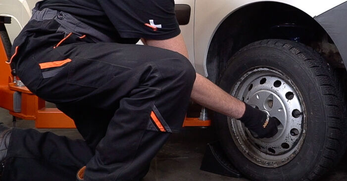 How to replace FIAT Doblo Cargo (223_) 1.9 JTD 2002 Control Arm - step-by-step manuals and video guides