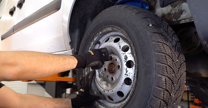 Step-by-step recommendations for DIY replacement Fiat Doblo Cargo 2014 1.3 JTD 16V Control Arm
