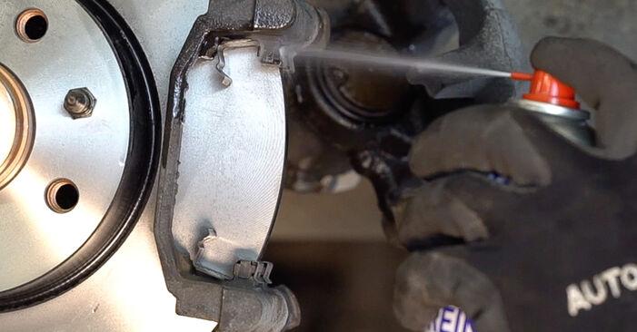 BRAVO II (198) 1.4 LPG 2017 Brake Pads DIY replacement workshop manual