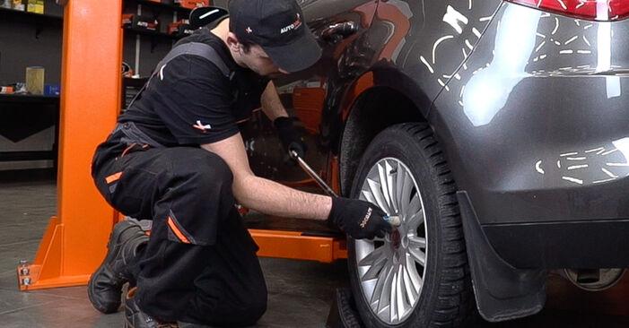 FIAT BRAVO II (198) 1.6 D Multijet 2008 Brake Pads replacement: free workshop manuals