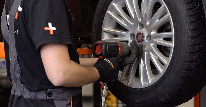 How to remove FIAT BRAVA 1.4 LPG 2010 Brake Pads - online easy-to-follow instructions