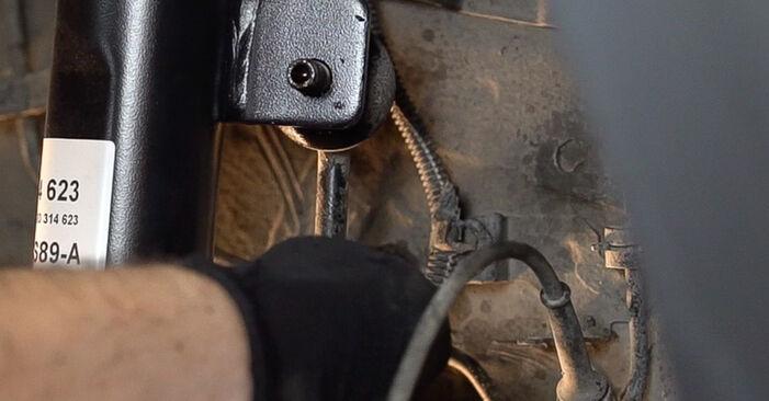 Domlager beim FIAT BRAVA 1.6 D Multijet 2013 selber erneuern - DIY-Manual
