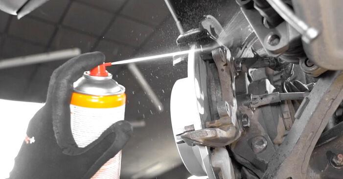 Стъпка по стъпка препоруки за самостоятелна смяна на Mercedes W211 2007 E 280 CDI 3.0 (211.020) Индикатор за износване