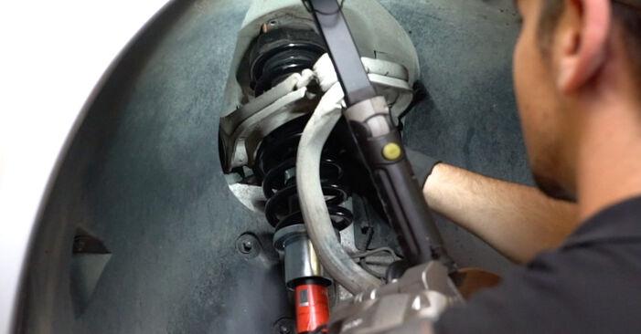 Не е трудно да го направим сами: смяна на Пружинно окачване на Mercedes W211 E 320 CDI 3.0 (211.022) 2008 - свали илюстрирано ръководство