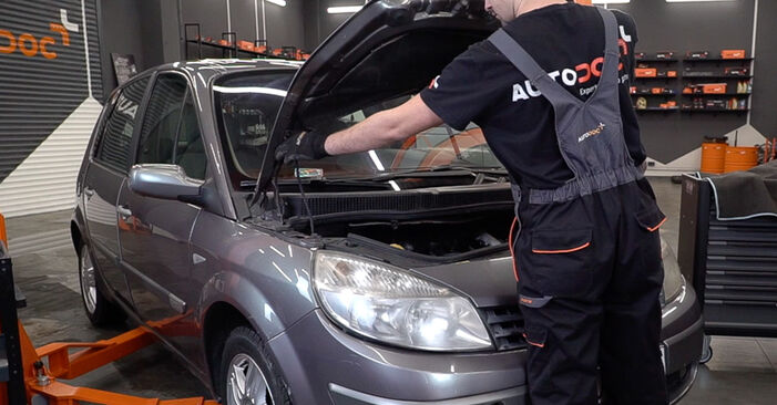 How to change Poly V-Belt on Renault Scenic 2 2003 - free PDF and video manuals