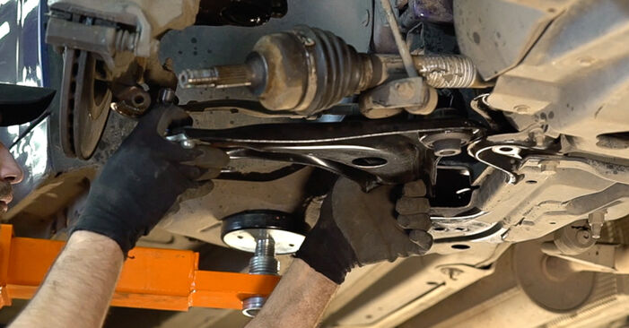 How to replace Control Arm on PEUGEOT 208 I Hatchback (CA_, CC_) 2017: download PDF manuals and video instructions