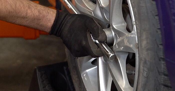 Peugeot 208 1 1.2 2014 Control Arm replacement: free workshop manuals