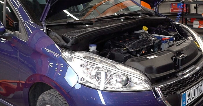 Wie Keilrippenriemen beim Peugeot 208 1 2012 gewechselt werden - Unentgeltliche PDF- und Videoanweisungen
