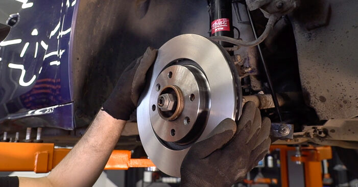 How to replace Brake Discs on PEUGEOT 208 I Hatchback (CA_, CC_) 2017: download PDF manuals and video instructions