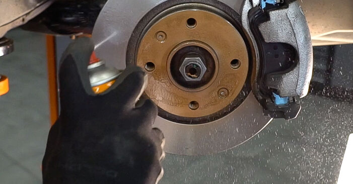 How to change Brake Discs on Peugeot 208 1 2012 - free PDF and video manuals