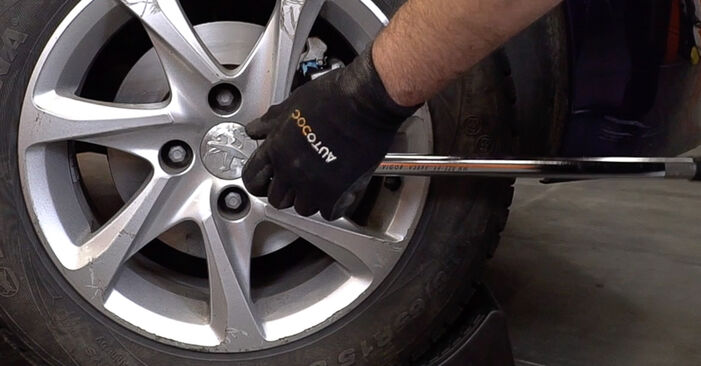 Changing Brake Discs on PEUGEOT 208 I Hatchback (CA_, CC_) 1.6 BlueHDi 100 2015 by yourself