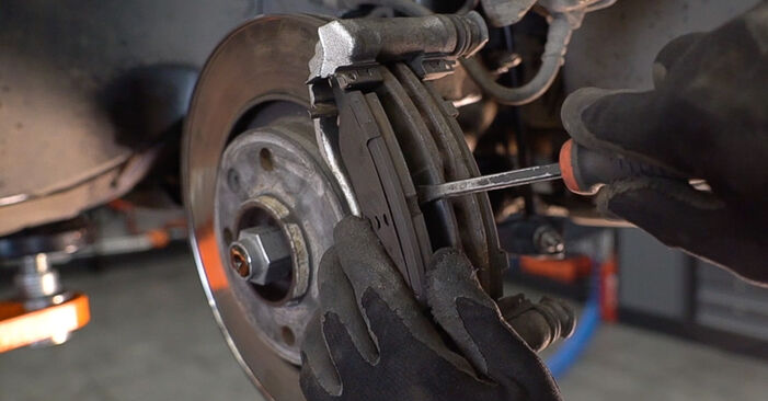 How to change Brake Pads on PEUGEOT 208 I Hatchback (CA_, CC_) 2015 - tips and tricks