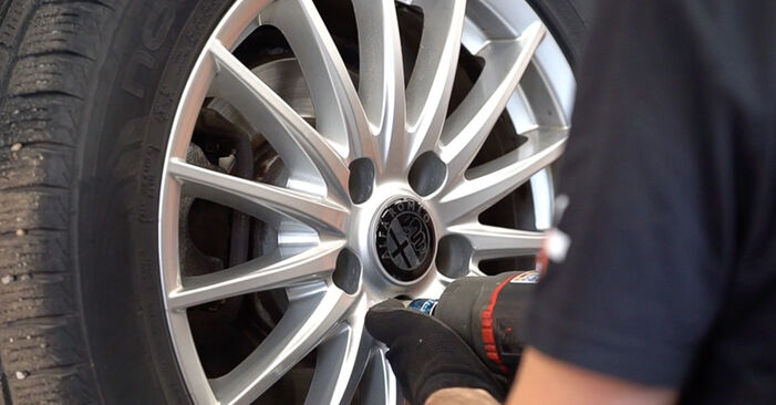 How to remove ALFA ROMEO 159 2.4 JTDM (939.BXM1B) 2009 Brake Discs - online easy-to-follow instructions