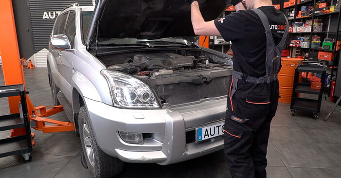 Come cambiare Pastiglie Freno su Toyota Prado J120 2002 - manuali PDF e video gratuiti