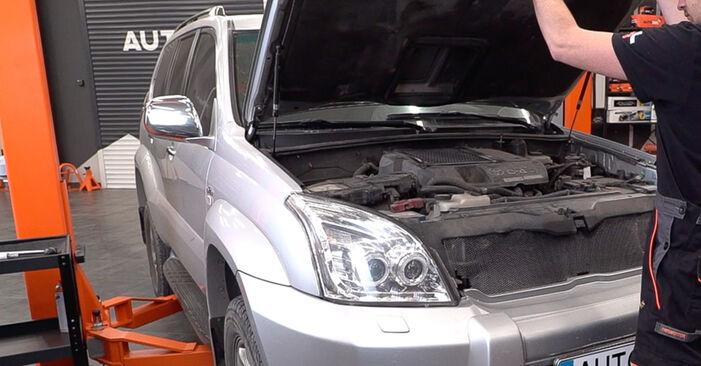 Hur byta Bromsbelägg på Toyota Prado J120 1995 – gratis PDF- och videomanualer