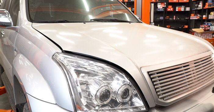 Replacing Brake Pads on Toyota Prado J120 2003 3.0 D-4D by yourself