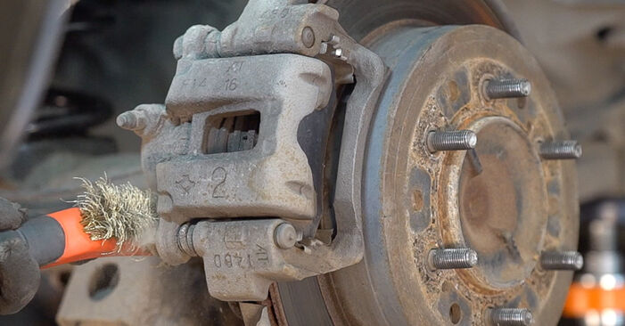 How hard is it to do yourself: Brake Pads replacement on Toyota Prado J120 3.0 D 2001 - download illustrated guide