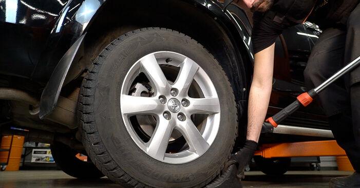 Manualul de înlocuire pas cu pas TOYOTA RAV4 2012 Placute Frana