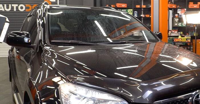TOYOTA RAV4 2.2 D 4WD (ALA30_) Fékbetét cseréje: online leírások és videó-útmutatók
