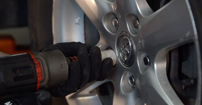 How to remove TOYOTA RAV4 2.0 (ZSA35_) 2009 Brake Discs - online easy-to-follow instructions