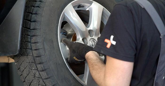 Смяна на Спирачен диск на Toyota RAV4 III 2006 2.2 D 4WD (ALA30_) самостоятелно