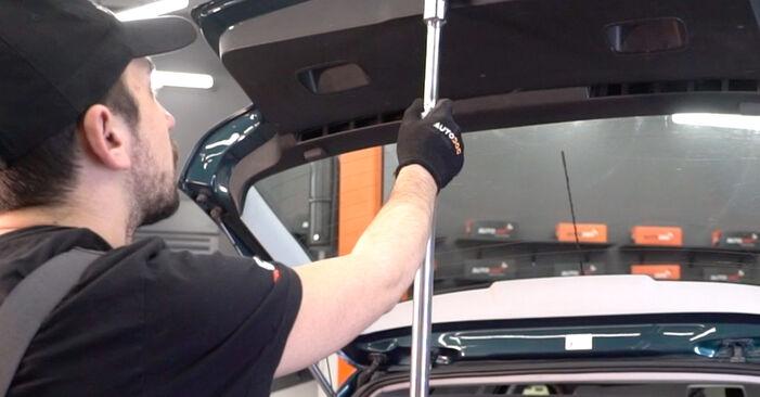 Wie Heckklappendämpfer VW Golf IV Schrägheck (1J1) 1.6 1998 austauschen - Schrittweise Handbücher und Videoanleitungen