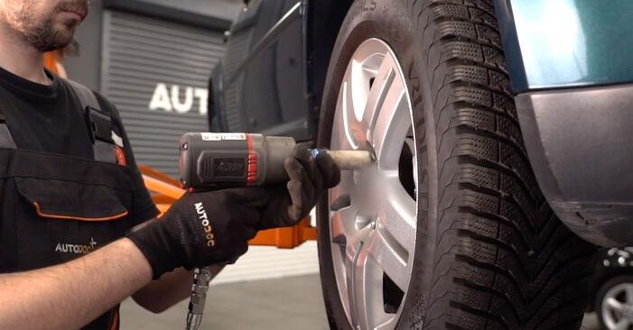 Hvordan man fjerner VW GOLF 1.8 T 2001 Kileribberem - nem at følge online instruktioner