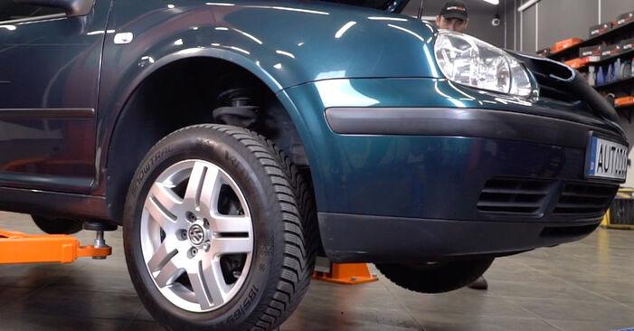 Cum să înlocuiți VW Golf IV Hatchback (1J1) 1.4 16V 1998 Brat Suspensie – manualele pas cu pas și ghidurile video