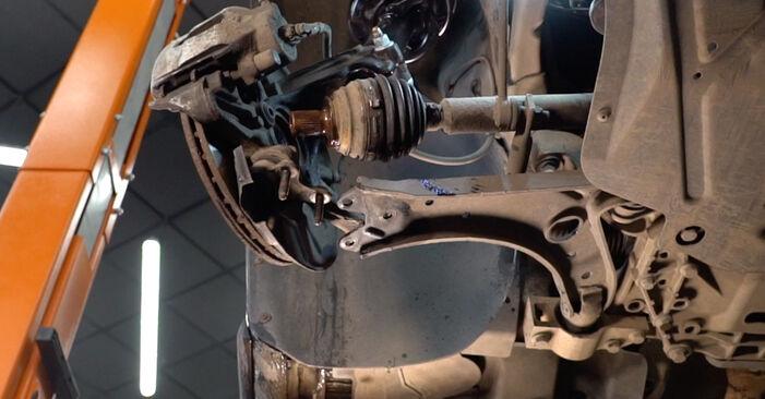 Kaip nuimti VW GOLF 2.0 TDI 16V 2007 Spyruoklės - nesudėtingos internetinės instrukcijos