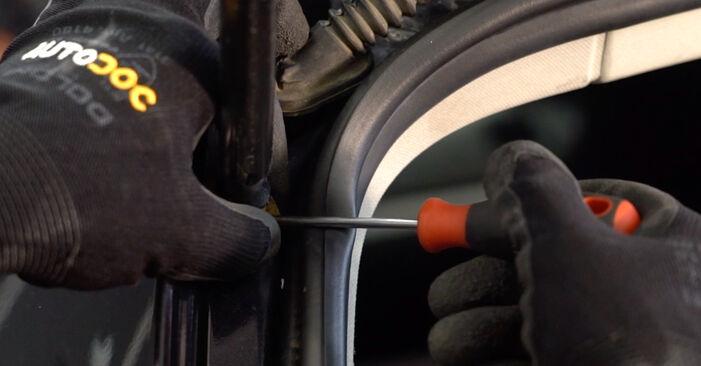 Wechseln Heckklappendämpfer am VW Golf V Schrägheck (1K1) 1.6 FSI 2006 selber