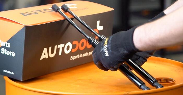 Heckklappendämpfer am VW Golf V Schrägheck (1K1) 1.4 16V 2008 wechseln – Laden Sie sich PDF-Handbücher und Videoanleitungen herunter