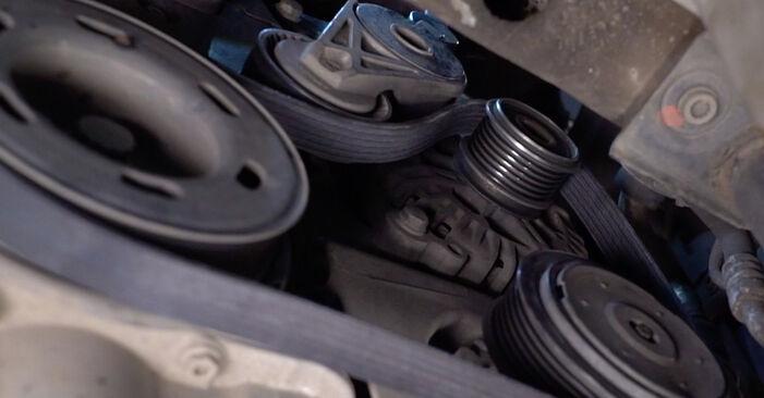 Înlocuirea VW GOLF 1.9 TDI Curea transmisie cu caneluri: ghidurile online și tutorialele video