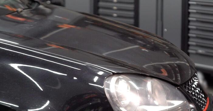 Wechseln Sie Bremsscheiben beim VW Golf V Schrägheck (1K1) 1.6 FSI 2006 selbst aus