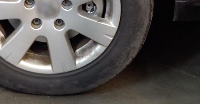 Tausch Tutorial Bremsscheiben am VW Golf V Schrägheck (1K1) 2008 wechselt - Tipps und Tricks