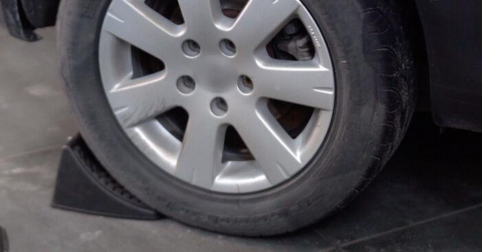 Wie Bremsbeläge VW Golf V Schrägheck (1K1) 1.6 2004 austauschen - Schrittweise Handbücher und Videoanleitungen