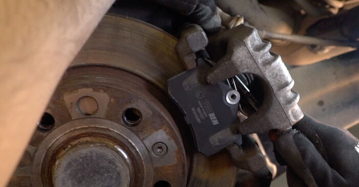 Changing of Brake Pads on Golf 5 2004 won't be an issue if you follow this illustrated step-by-step guide