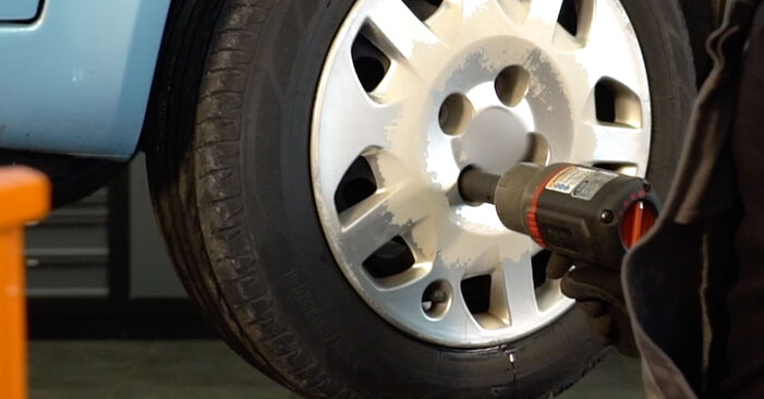 How to remove FIAT PUNTO 1.9 JTD 2003 Brake Pads - online easy-to-follow instructions