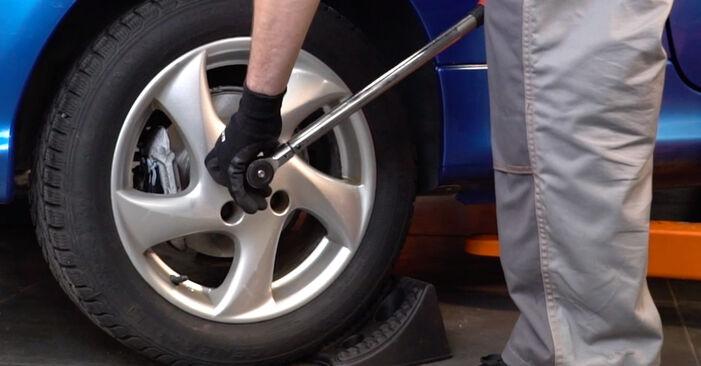 Wie schwer ist es, selbst zu reparieren: Radlager Peugeot 206 cc 2d 1.6 HDi 110 2004 Tausch - Downloaden Sie sich illustrierte Anleitungen
