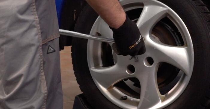 Bremsbeläge Peugeot 206 cc 2d 1.6 HDi 110 2000 wechseln: Kostenlose Reparaturhandbücher