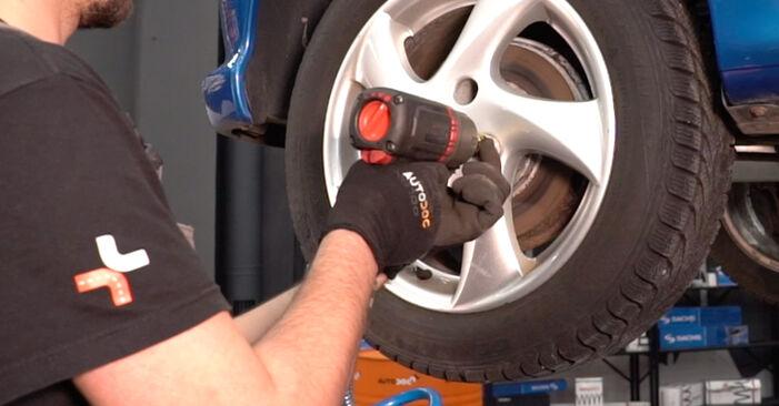 Wie PEUGEOT 206 1.6 16V 2004 Bremsbeläge ausbauen - Einfach zu verstehende Anleitungen online